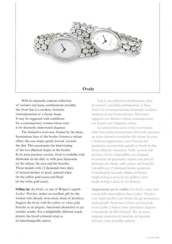 Copywriting to sell fine timepieces